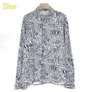 dior shirts long sleeve dd003 logo gray